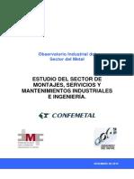 Estudio Del Sector de Montajes Servicios y Mantenimientos Industriales e Ingenieria