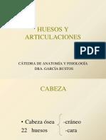Clase Teórica Huesos y Articulaciones