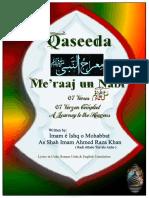 Qaseeda'e Maiyraj'un-Nabi (Alehe Salat-O-Salam) [Urdu/Eng.]