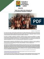 160504 BOLETIN_Informan a Relator de La ONU Sobre Situación de Defensoras en México