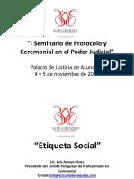 Disertante Luis Arroyo Etiqueta Social