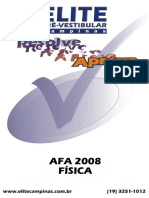 Prova AFA RESOLVIDA -FÍSICA 2008