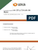 Esfuerzos en 2D y Circulo de Mohr