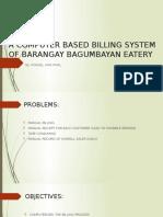 A Computer Based Billing System of Barangay Bagumbayan