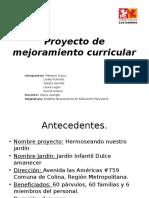 Proyecto de Mejoramiento Curricular