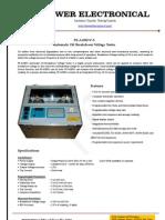 Oil Tester - Oil Breakdown Voltage (BDV) tester - Power Electronical