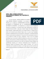 Carta a PGR - Mujeres en movimiento