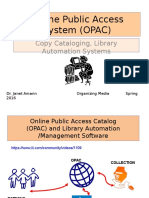 opac copy cataloging library automation systems
