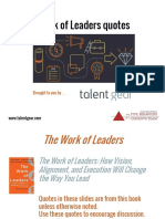 Work of Leaders Quotes