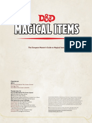 Items - Dungeon Master's Guide to Magical Items | Dungeons