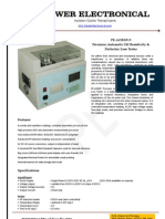 Oil Analyzer - Automatic Oil Dissipation Factor and Resistivity tester