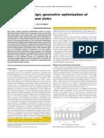 Constructal Design Geometric Optimization of Micro Channel Heatsinks