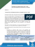 Requisitos e Interpretacion de La Norma ISO 90012008 - Actividad Unidad 3