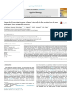 Numerical Investigations on Ethanol Electrolysis for Production of Pure Hydrogen From Renewable Sources