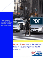 2011 Pedestrian Risk vs Speed
