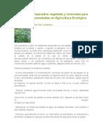 Extractos y Preparados Vegetales y Minerales Para Plagas y Enfermedades en Agricultura Ecológica