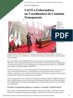 25-01-16 Propone CONAGO a Gobernadora Pavlovich como Coordinadora de Comisión de Gobierno Transparente. -Canal Sonora