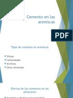 Cemento en Las Areniscas