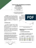 CONSTRUCCION DE UN CANAL DE REGADIO DE TOPORAFIA ACCIDENTADA