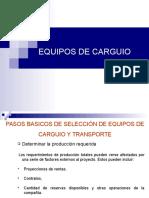 Clase_03 Seleccion de Equipo Carguio y Transporte
