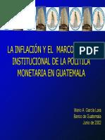 La Inflacion en Guatemala