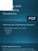 working with challenging situations