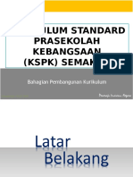 Kurikulum Standard Prasekolah Kebangsaan (KSPK) Semakan