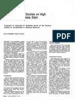 GTA Weldability Studies on High