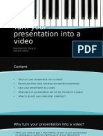 Turn Your Presentation Into a Video