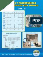 Costos y Presupuestos de Un Edificio Con Sótano Vol. II