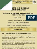 CG - Unidad II - Tema I - Los Estados Financieros