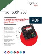 Isc Touch 250 Data Sheet