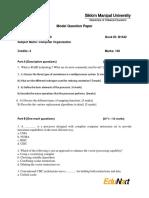 BCA 2050 Computer Organization Model Question Paper