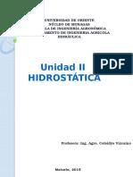 Unidad II. Hidrost Tica2015
