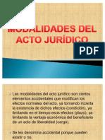 Modalidades del acto juridico UNPRG