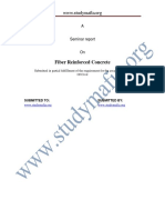 Civil Fiber Reinforced Concrete Report