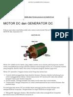 Motor Dc Dan Generator Dc