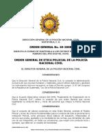 4. Orden General de Etica Guatemala