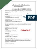 Las Bases de Datos Más Utilizadas en Las Aplicaciones Web