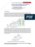 Design of Continuous Beam and Slab Footing using BS 8110-1:1997