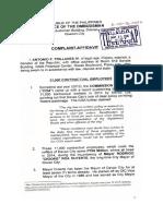 Senator Antonio Trillanes IV's Ombudsman complaint against Davao City Mayor Rodrigo Duterte