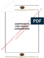 Cement Constants Material Constants of all Kinds of Civil Works