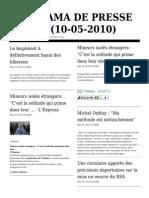 Panorama de Presse 100510