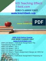 HRM 319 AID Teaching Effectively/hrm319aid.com