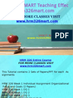 HRM 326 MART Teaching Effectively/hrm326mart.com