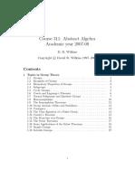 Abstract Algebra D. R. Wilkins