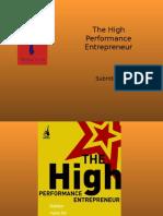 The High Performance Entrepreneur