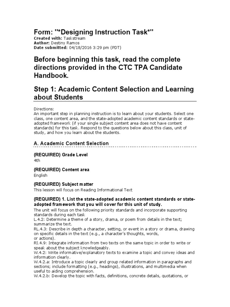 Tpa2 Reading Comprehension Individualized Education Program