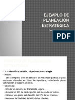 Ejemplo de Planeación Estratégica