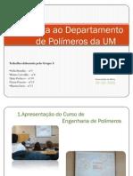 Visita ao Departamento de Polímeros da UM